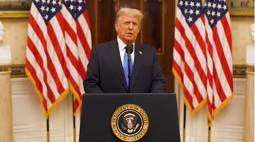 Pożegnalne wystąpienie Trumpa. Wspomniał o Polsce