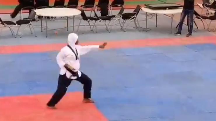 Zdobyła złoty medal w taekwondo. W 8. miesiącu ciąży [WIDEO]