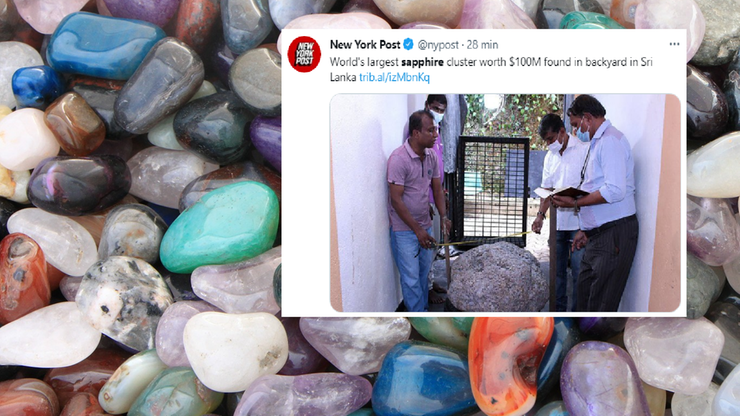 Sri Lanka. Znaleziono największy szafir na świecie. Jest wart 100 mln dolarów