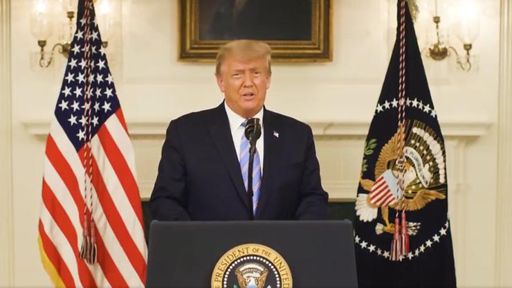 """Donald Trump potępił atak na Kapitol. Zapowiada """"płynne przekazanie władzy"""""""