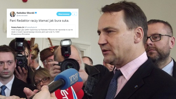 Sikorski przeprosił dziennikarkę za wpis na Twitterze, ale go nie usunął